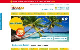 ITS Coop Travel CH Webseiten Screenshot