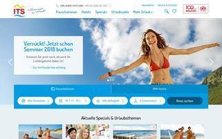 ITS Reisen Webseiten Screenshot