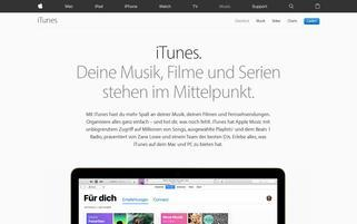 iTunes Webseiten Screenshot