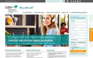IUBH Fernstudium Webseiten Screenshot