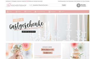 Ja-Hochzeitsshop Webseiten Screenshot