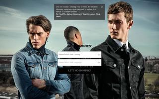 Jack & Jones Webseiten Screenshot