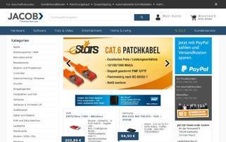 Jacob Elektronik Webseiten Screenshot