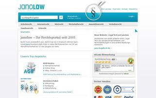 JANOLAW Webseiten Screenshot