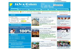 jawa-reisen.de Webseiten Screenshot