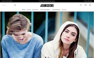 Jeans Ecke Webseiten Screenshot