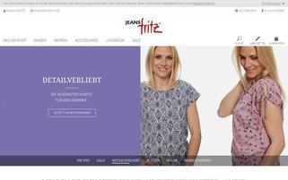 Jeans Fritz Webseiten Screenshot