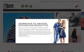 jeans-meile.de Webseiten Screenshot
