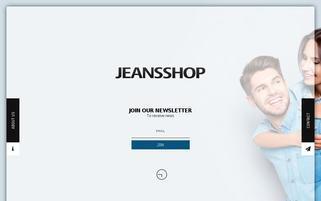 JeansShop Webseiten Screenshot