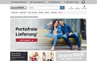 Jeanswelt Webseiten Screenshot