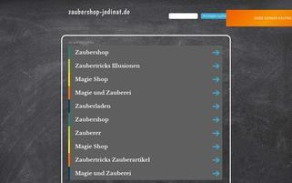 Jedinat Zaubershop Webseiten Screenshot