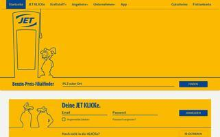 JET Webseiten Screenshot