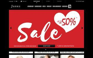 Jones Fashion Webseiten Screenshot
