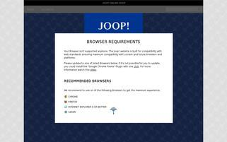JOOP Webseiten Screenshot