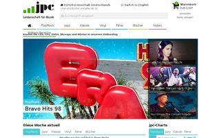 jpc Webseiten Screenshot