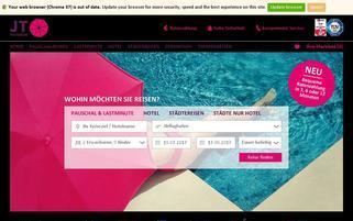 JT Touristik Webseiten Screenshot