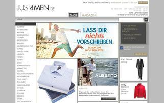 just4men Webseiten Screenshot