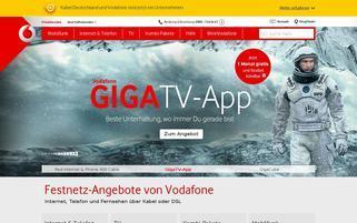 Kabel Deutschland Webseiten Screenshot