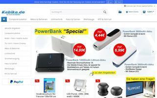 Kabika Webseiten Screenshot