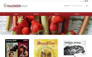 Kalenderhaus Webseiten Screenshot