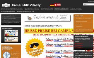 Kamelmilch.de Webseiten Screenshot