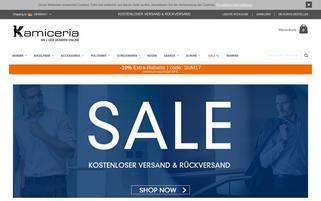 Kamiceria Webseiten Screenshot