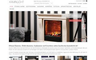 Kaminlicht Webseiten Screenshot