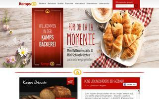 Kamps Webseiten Screenshot
