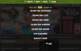 Karls Erdbeerhof Webseiten Screenshot