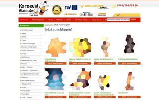 Karneval-Alarm Webseiten Screenshot
