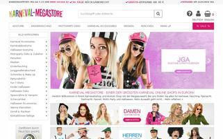 Karneval Megastore Webseiten Screenshot