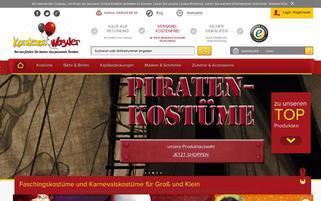 Karneval-Wagner Webseiten Screenshot