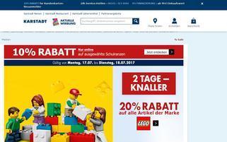 Karstadt Webseiten Screenshot