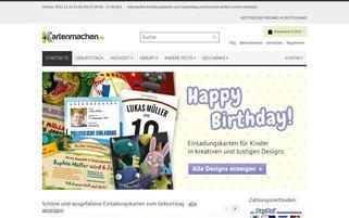 Kartenmachen.de Webseiten Screenshot