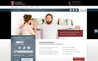 Kautionskasse Webseiten Screenshot