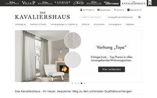 Kavaliershaus Webseiten Screenshot