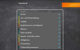kawando.de Webseiten Screenshot