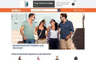 Kelkoo Webseiten Screenshot