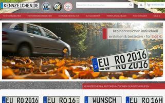kennzeichen.de Webseiten Screenshot
