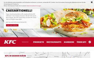 Kentucky Fried Chicken Webseiten Screenshot
