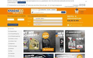 Kfzteile24 Webseiten Screenshot