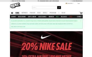 KICKZ Webseiten Screenshot