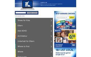 kidisto Webseiten Screenshot