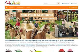 kidz.ch Webseiten Screenshot