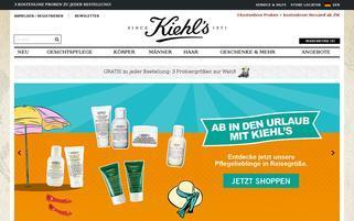 Kiehls Webseiten Screenshot