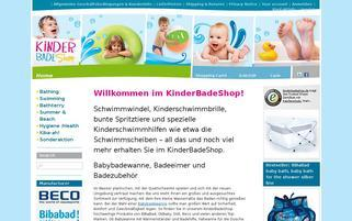 KinderBadeShop Webseiten Screenshot