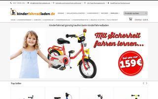 kinderfahrradladen.de Webseiten Screenshot