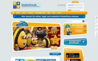 Kinderkino Webseiten Screenshot