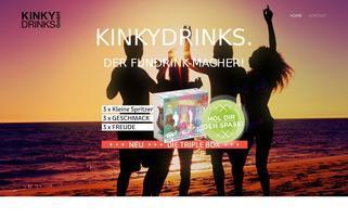kinkydrinks.de Webseiten Screenshot