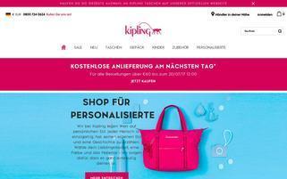 Kipling Webseiten Screenshot